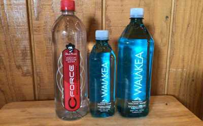 Waiākea Water from Hawaii and Chuck Norris's C Force Water from Texas