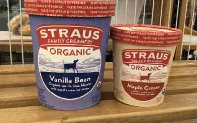 Straus Maple Cream Pints & Vanilla Quarts