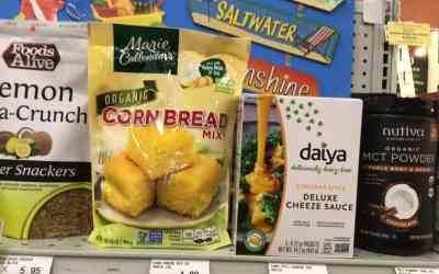Daiya DeLuxe Cheese Sauce & Marie Callender's Organic Cornbread Mix