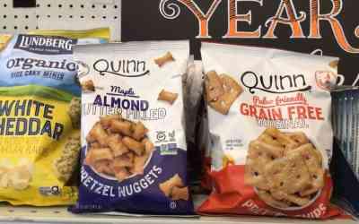Quinn Maple Almond Butter Filled Pretzel Nuggets & Grain Free Pretzel Chips