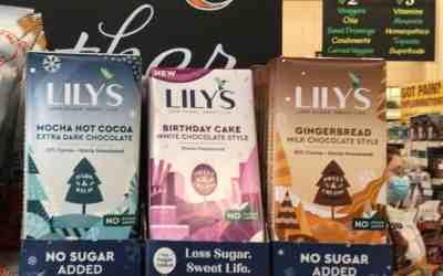 Lily's Delicious Holiday Sugar-Free & Less Sugar Chocolates.