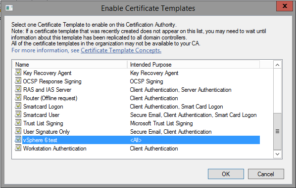 Creating a microsoft certificate authority template for ssl example shown uses vsphere 6 test because vsphere 60 yadclub Image collections