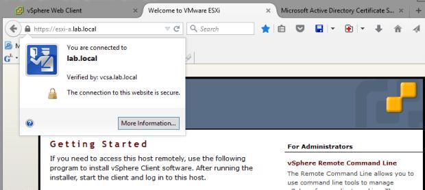 ESXi server certificate
