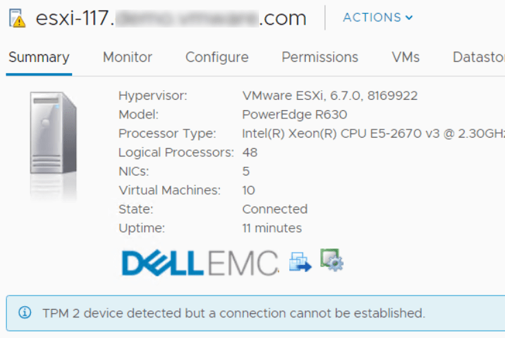 Configuring TPM 2 0 on a 6 7 ESXi host – Mike Foley