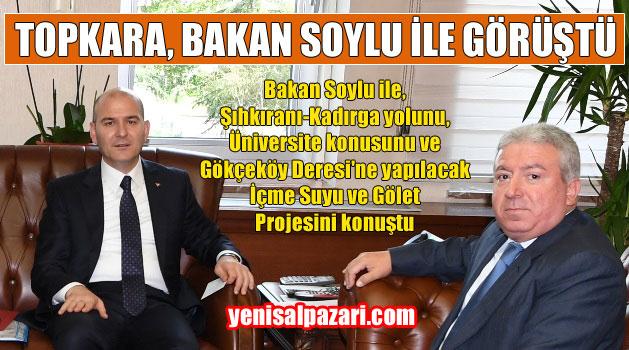 Murat Topkara, Şalpazarı'na Meslek Yüksek Okulu açılması talebini 2 yıl önce Ankara'da Bakan Soylu'ya ileterek AK Parti'nin seçim kitapçığına sokturmuştu