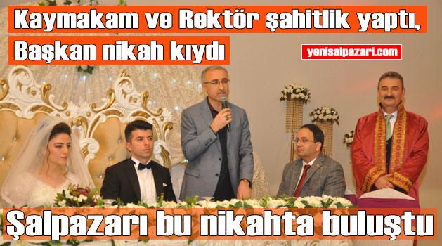 Sinlice Muhtarı Mustafa Uçar'ın oğlu Murat, Aslı Gül Alemdağ ile hayatını birleştirdi