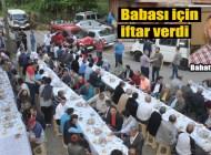Düzköy'de merhum Hüseyin Yanık için cami avlusunda iftar verildi
