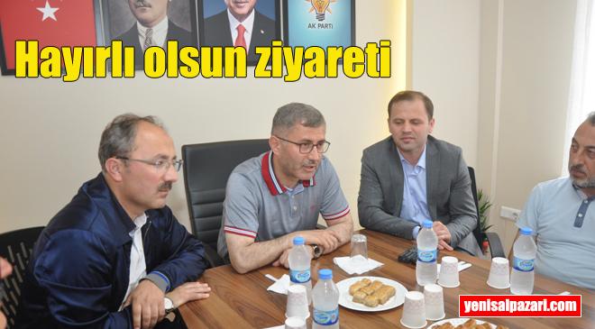 Üsküdar Belediye Başkanı Hilmi Türkmen AK Parti Şalpazarı İlçe Teşkilatını ziyaret etti