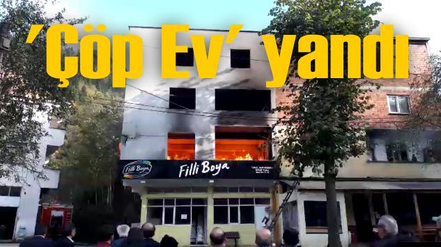 Doğancı Dere'de bir evde çıkan yangın çevredekileri korkuttu