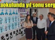 Şalpazarı Ali İbrahimağaoğlu Anaokulu'nda yıl sonu sergisi açıldı