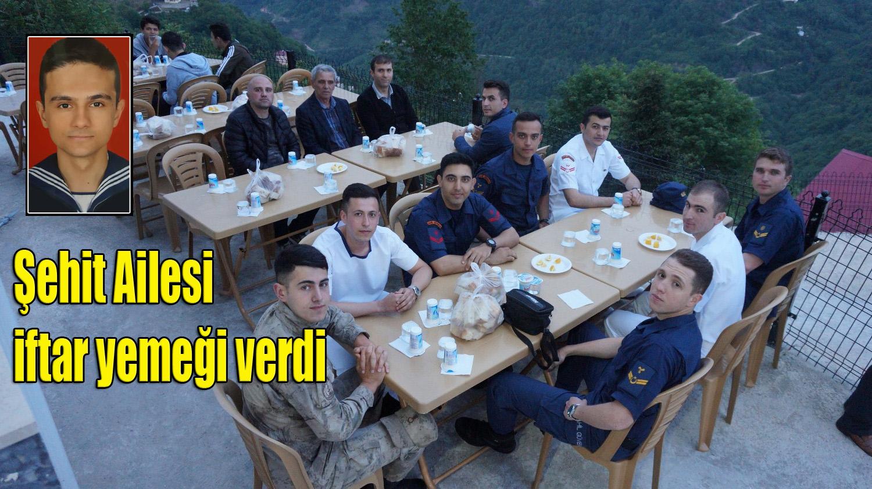 Şehit Alper Al'ın ailesi Üzümözü'nde iftar yemeği verdi