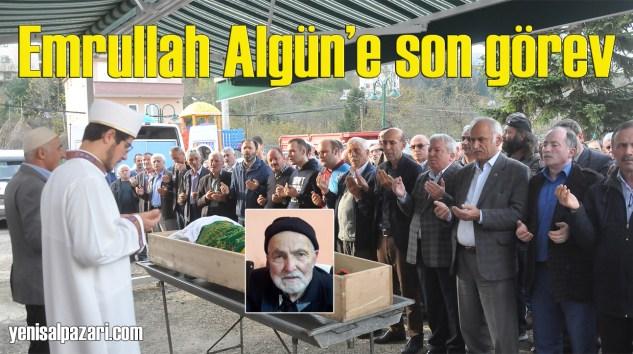 Emrullah Algün'ün cenazesi Geyikli Konakyanı'nda toprağa verildi