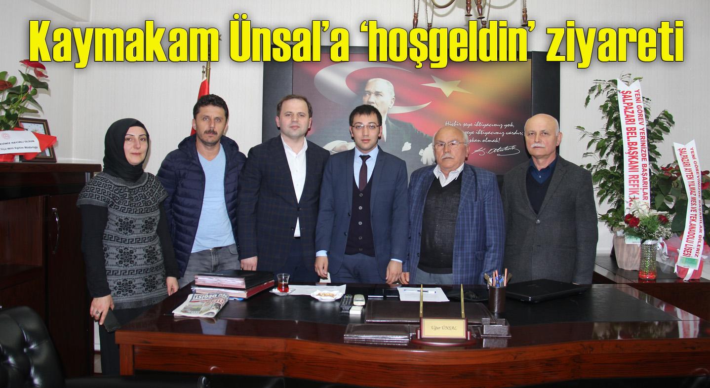 AK Parti Şalpazarı İlçe Teşkilatı Kaymakam Uğur Ünsal'ı ziyaret etti