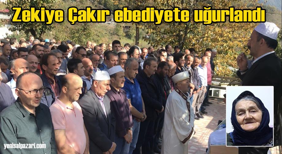 Zekiye Çakır'ın cenazesi Sugören Mahallesi'nde toprağa verildi