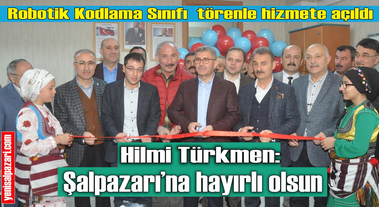 Şalpazarı Atatürk Ortaokulu'na Robotik Kodlama Sınıfı törenle hizmete açıldı