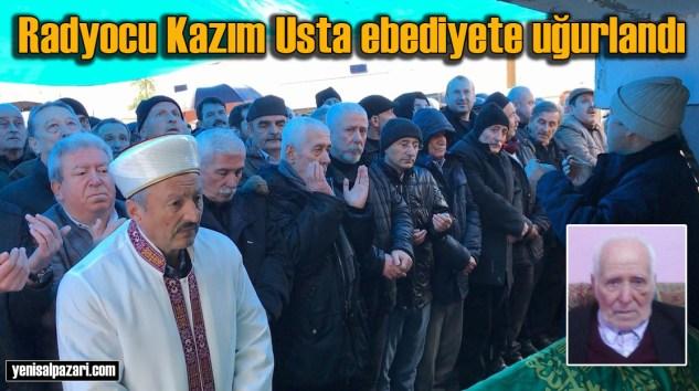 Kazım Usta'nın cenazesi Üzümözü Mahallesi'nde toprağa verildi