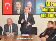 Şalpazarı AK Parti Teşkilatı muhtarlarla bir araya geldi