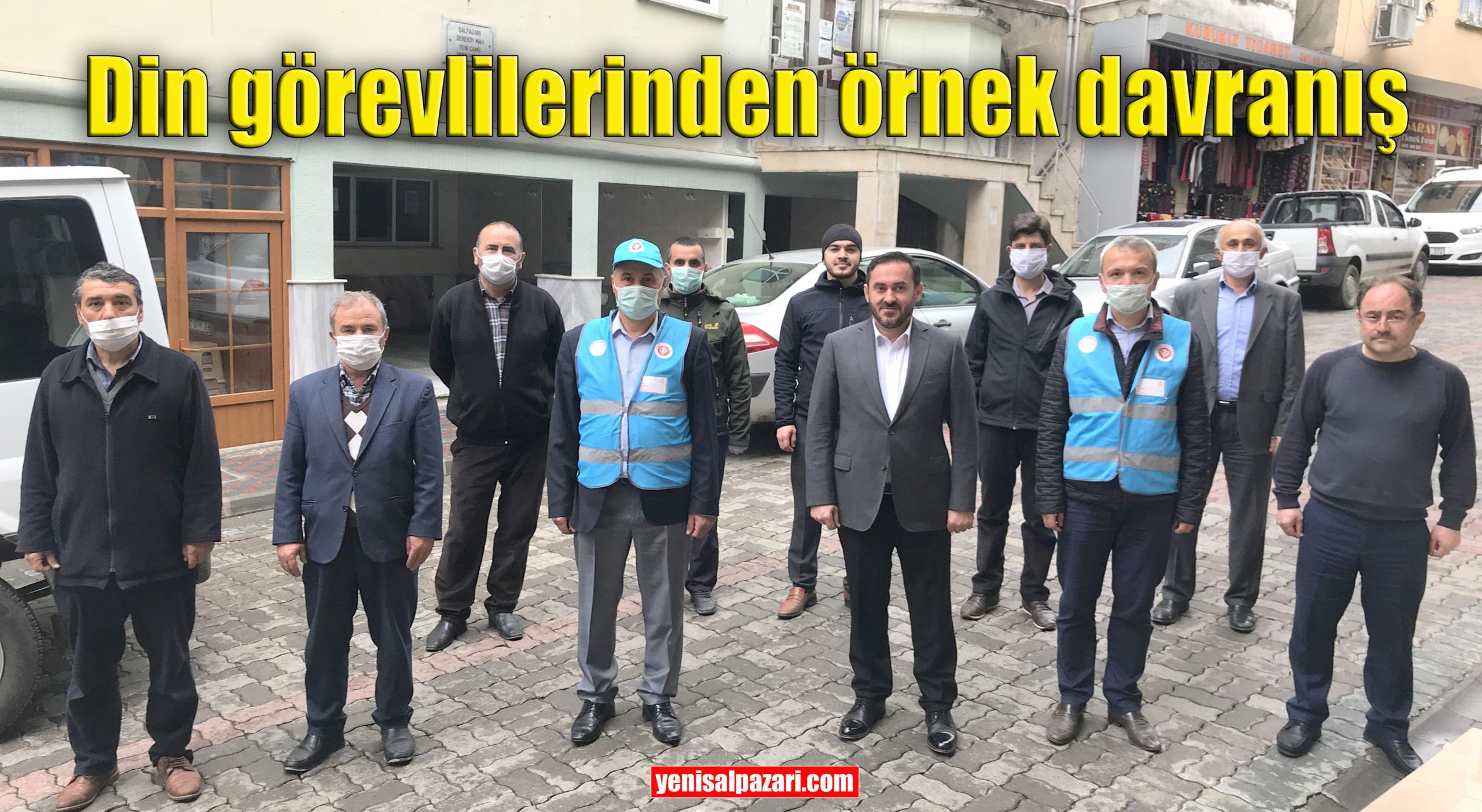 """Şalpazarı İlçe Müftülüğü Personeli """"Biz Bize Yeteriz Türkiyem"""" kampanyasına 14 bin 660 TL bağışta bulundu"""