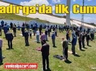 Kadırga üzeri Açık Camii'nde ilk mesafeli Cuma namazı