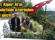 Şehit Alper Al'ın Üzümözü Mahallesi'ndeki kabri ziyaretçi akınına uğradı