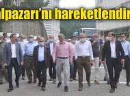 Hilmi Türkmen memleketi Şalpazarı'nda ziyaret ve incelemelerde bulundu