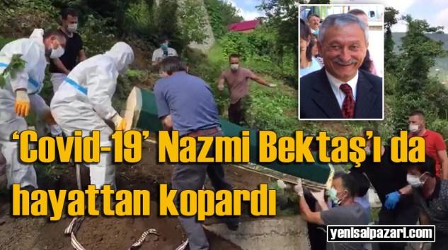 Emekli Öğretmen Nazmi Bektaş'ın cenazesi Üzümözü Mahallesi'nde toprağa verildi
