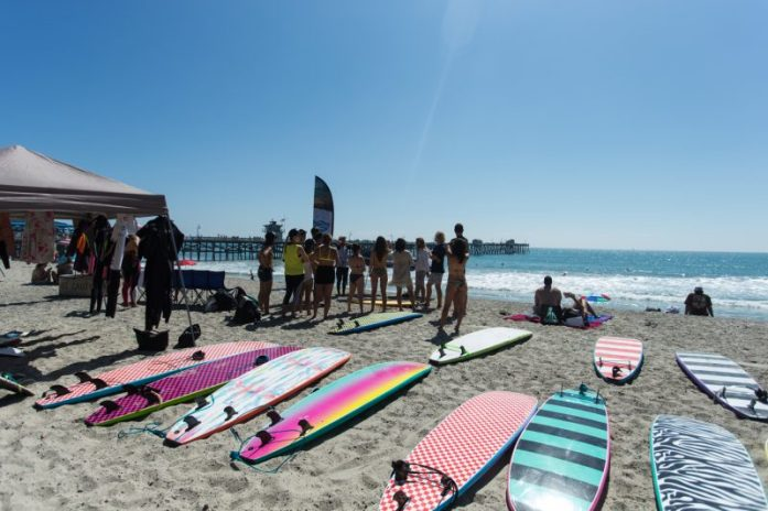 Surf lesson from San Clemente Surf school! photo by Dominique Daher