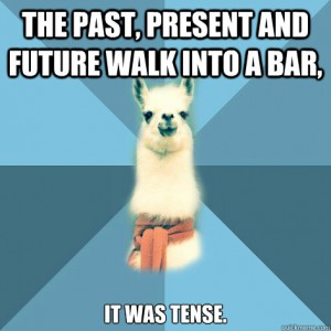 past, present and future tense