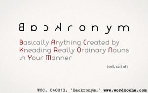 backronyms