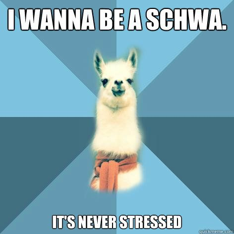 Schwa is never stressed meme
