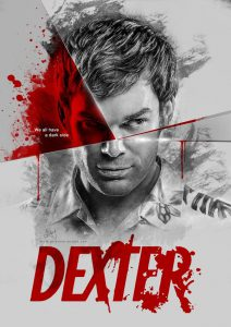 "A portrait of Dexter Morgan from the TV show ""Dexter"""