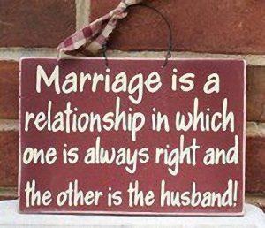 Salvo en el caso de mi mujer, que sólo tiene una opción.