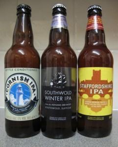 Una pequeña selección de IPAs británicas.