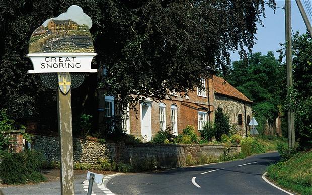 Great Snoring nombres de lugar curiosos en UK