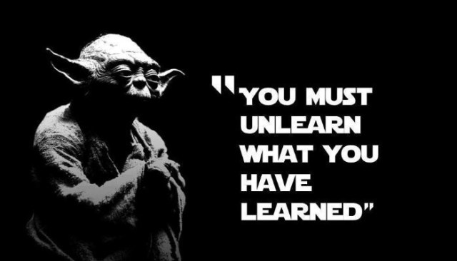 Reglas gramaticales unlearn yoda