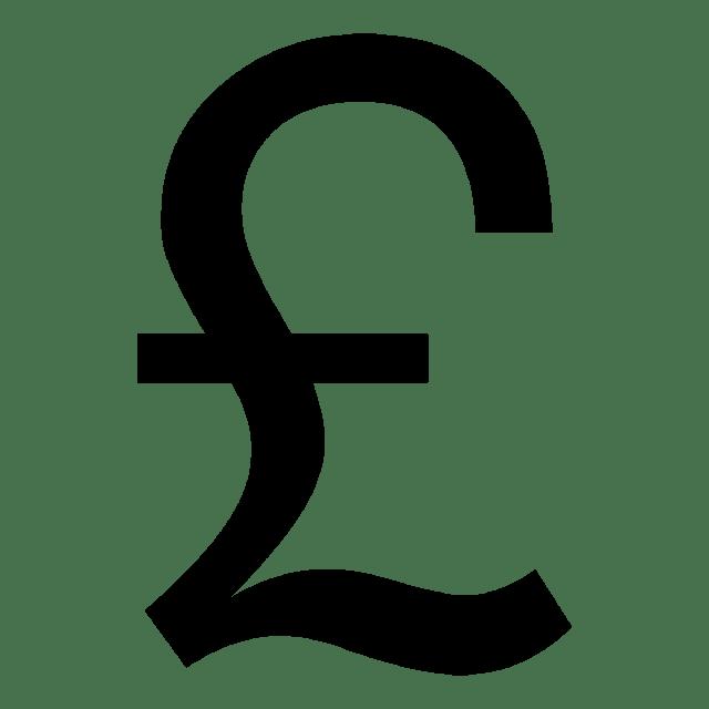 Símbolos monetarios libra