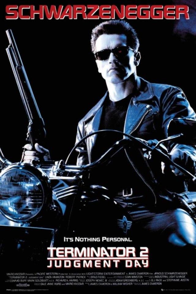Terminator 2 poster diálogos en español