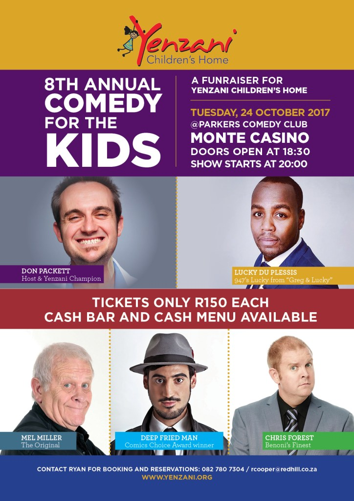 Comedy for the Kids 2017 - Email and Online use
