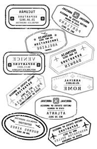 יש מיש - חותמות דרכון בתמונת מראה