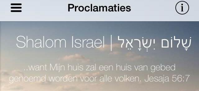 App met Israëlproclamaties (Eng/Ndl.)