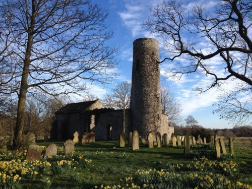Great Hautbois round tower church Norfolk