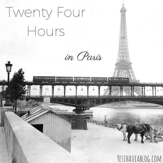 Twenty Four Hours in Paris | Winterlust - Yesihaveablog | Winter Travel