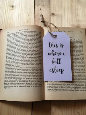 Yesihaveablog | The Writing Room Easy Store | Handmade Stationery | Luggage Tag Bookmark | This is where I fell asleep Bookmark