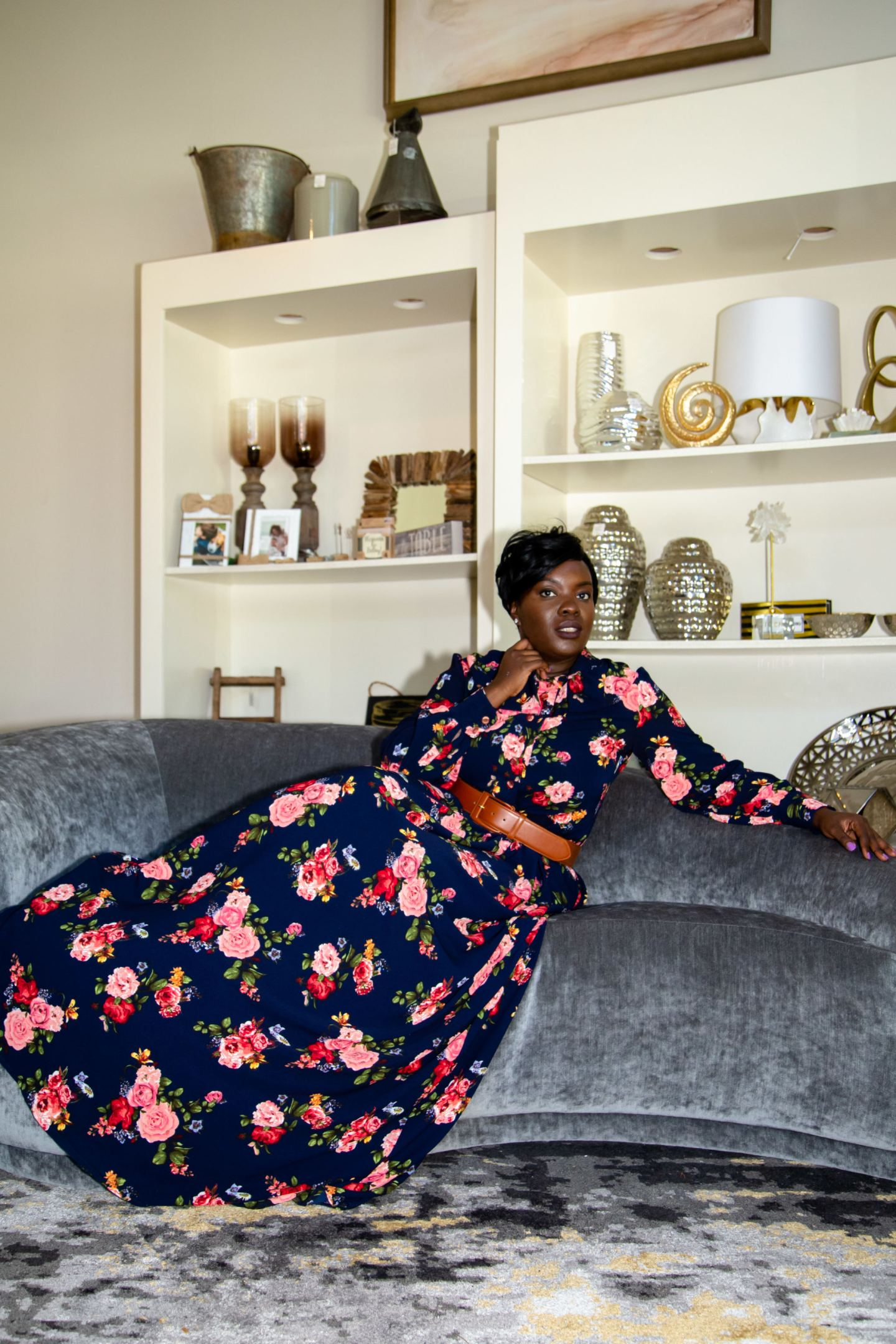 Fall Floral Trend with Butterick 4490 - YesIMadeMyDress