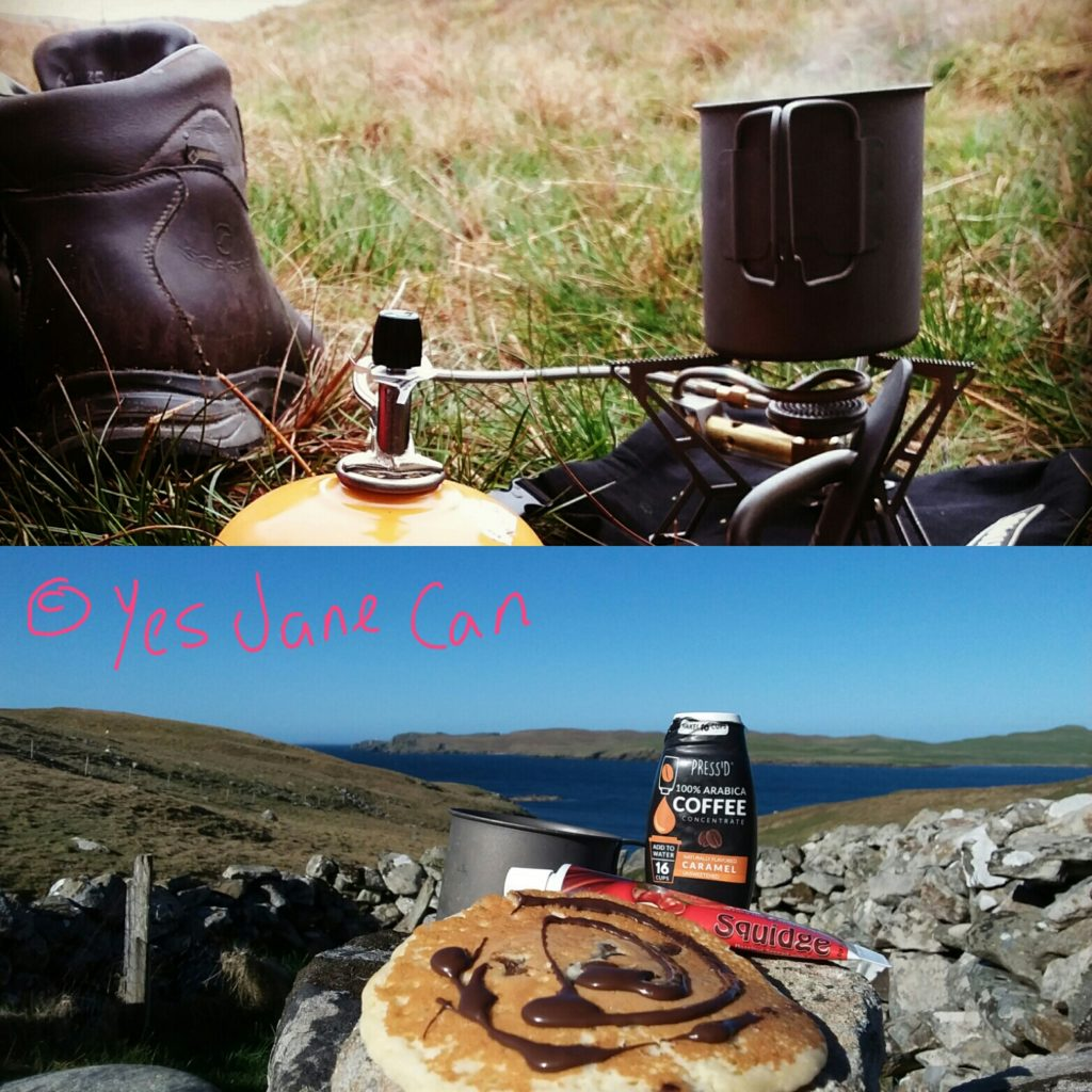 Camp food - wild camping in Scotland