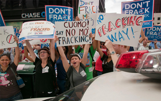 New York anti-fracking rally