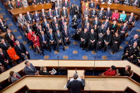 State of the Union address. Official White House photo by Chuck Kennedy.