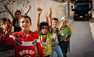 Palestinian Boys photo by Omar Chatriwala