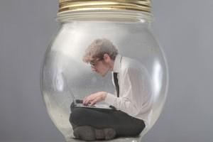 Man in Jar photo by Ollyy/Shutterstock