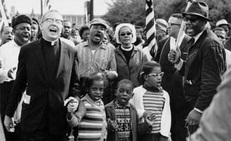 Abernathy and MLK march. Photo courtesy Wikimedia Commons.